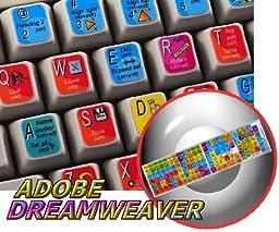 NEW ADOBE DREAMWEAVER KEYBOARD STICKER