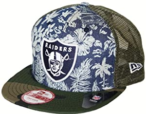 Oakland Raiders New Era 9FIFTY NFL Tropical Snapback Hat by New Era