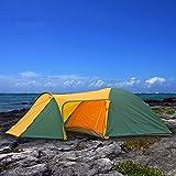 アウトドアテントキャンプ 二層 2-4人  1ホール 2ルーム