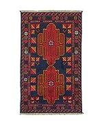 L'Eden del Tappeto Alfombra Beluchistan Azul Marino / Rojo 81 x 137 cm
