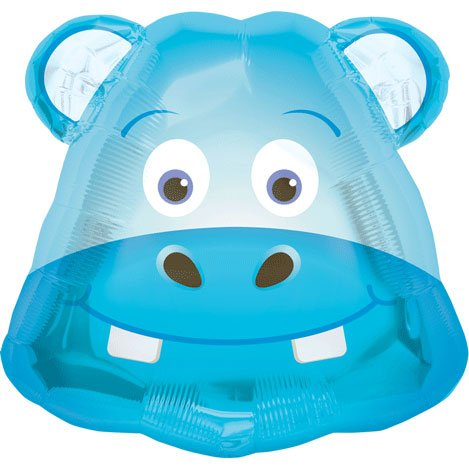Hippo Head Shaped Balloon
