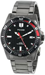 Pulsar Unisex PS9105 Analog Japanese-Quartz Black Watch