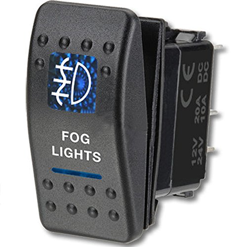 E Support Car Blue LED Fog Light Toggle Switch