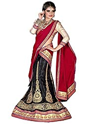 Khushi Trendz Women's Net Semi-Stitched Lehenga Choli Set_KT9190_Multicolored_Freesize
