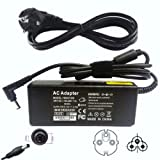 90W Laptop Charger / Power Supply / AC adapter for Toshiba Satellite A500 & L500 series: A500-11U A500-15N A500-17X A500-19X A500-1GL A500-1GM L500-128 L500-1QK with UK Power Cord C5 Cable Included