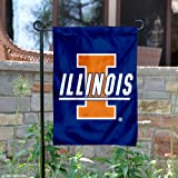 Illinois Fighting Illini Blue Garden Flag and Yard Banner at Amazon.com