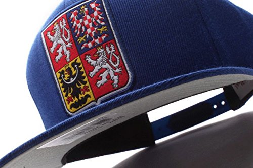 Mitchell & Ness World Cup of Hockey 2016 Team Logo Adjustable Snapback Hat (Team Czech Republic-Blue)