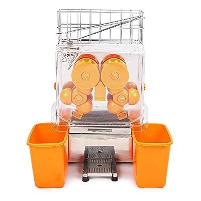 BestEquip Orange Juicer Commercial Auto Feed Orange Juicer Squeezer 120W Orange Juice Machine Squeeze 20-22 Oranges per Mins from BestEquip