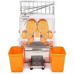 FoodKing Orange Juicer Orange Squeezer Machine Orange Juice Squeezer Juice Extractor Citrus Lemon Lime Fruit Auto Feed Automatic Commercial Stainless Steel (Orange)