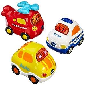 VTech Baby 80-203904 - Tut Tut Baby Flitzer-Set 4 (Polizei, Auto, Hubschrauber)