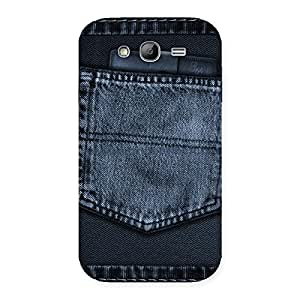 Stylish Navy Jeans Pocket Back Case Cover for Galaxy Grand Neo