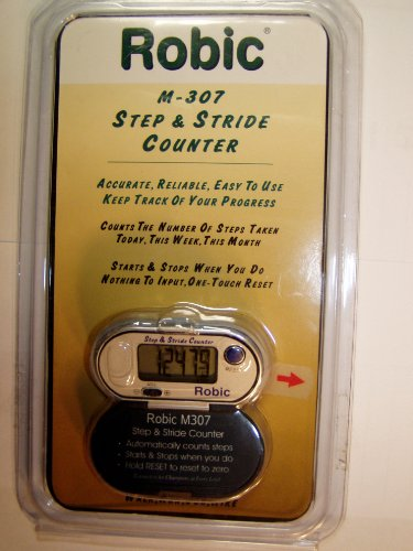 Cheap Robic M-307 Step and Stride Counter Pedometer Silver (M-307)