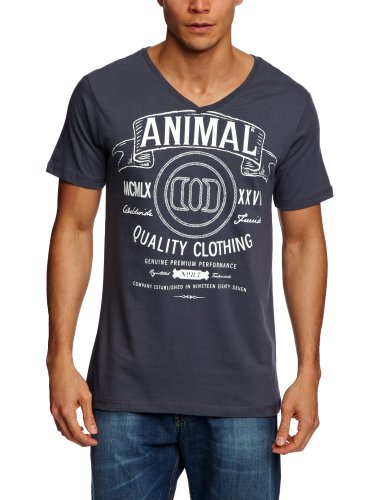Animal Leola Printed Men's T-Shirt Ombre Grey Small - CL3SC030-456-S