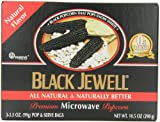 Black Jewell Premium Microwave Popcorn, Natural, 10.5-Ounce Boxes (Pack of 6)