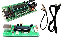 ATMEL 8051 Development Board ZIF Socket with AT89S52, MAX232 and AVR & 8051 USB ISP Programmer
