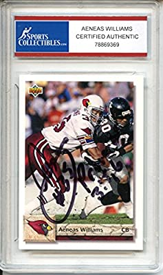Aeneas Williams Autographed Arizona Cardinals Trading Card