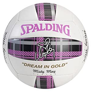 Buy Spalding Misty May Pink Plaid Volleyball by Spalding