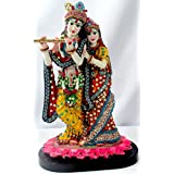 Paras Magic Marble Radha Krishna RK2 Idol (Standard,Multicolor)