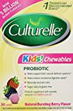 Culturelle, Kids! Chewables Probiotic, Natural Bursting Berry Flavor, 30 Tablets