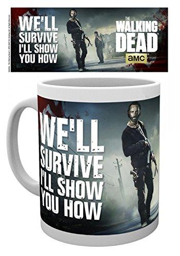 Set: The Walking Dead, Guns Tazza Da Caffè Mug (9x8 cm) e 1 Sticker sorpresa 1art1®
