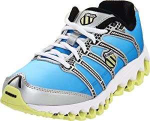 K-Swiss Tubes Run 100 92281-723-M, Damen Sportschuhe - Fitness, Blau  (sunrise/sunny lime), EU 37  (UK 4)