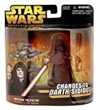 Star Wars Deluxe Emperor Palpatine Changes to Darth Sidious Action Figure