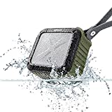 allimity Portable Bluetooth Outdoor Speaker Waterproof With 12 Hours Play and 33ft Range 3.5mm Audio Cable, Compatible with All Bluetooth Devices(Army Green)