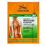 Tiger Balm Patch Plaster Cool Medicated Pain Relief 10 X 14 Cm., 15 Packs.