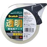 スコッチ(R) 透明梱包用テープ 重量物用 カッターつき  48mm×50m 315DSN