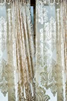 Isabella faux silk velvet sheer curtain