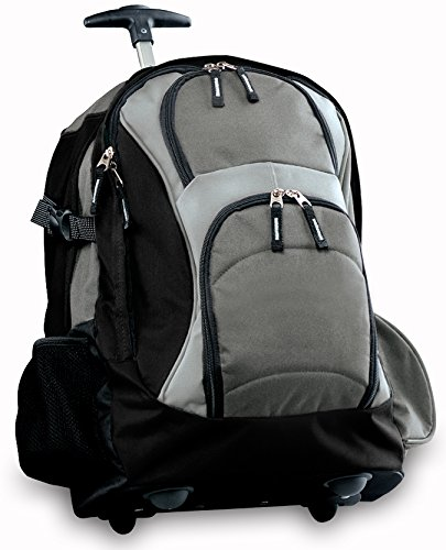 Broad Bay Rolling Backpack Deluxe Gray Best Quality Best Backpacks Bags With Wh