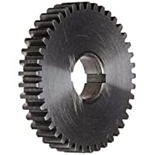 "Boston Gear GA41 Plain Change Gear, 14.5 Degree Pressure Angle, 20 Pitch, 0.625"" Bore, 41 Teeth, Steel"