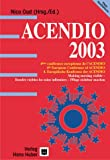 echange, troc Cathy Ace - ACENDIO 2003.