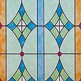 Linea Fix® statische Fensterfolie G4603 - Bleiglas Style, Bitte Größe wählen:0.46m x 0.40 m
