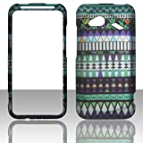 2D Tribal Blue HTC Droid Incredible 4G LTE 6410 Verizon Case Cover Phone Snap on Cover Cases Hard Protector