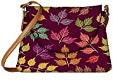 Snoogg a seamless pattern with leaf Womens Carry Around Sling Bags