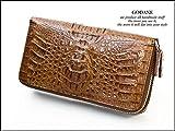 GODANE (ゴダン) Wラウンドファスナー カイマンクロコダイル長財布 spcw8055cpBR ブラウン/茶色
