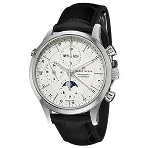 Maurice Lacroix Men's LC6078-SS00113E Les Classiqu Silver Chronograph Dial Watch