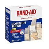 Band-Aid Sheer Adhesive Bandages, Assorted - 80 Ea,(free nail filer)