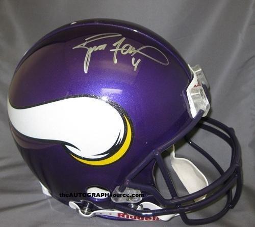 Brett Favre Signed Vikings PRO Helmet