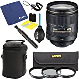 Nikon 24-120mm f 4G ED VR AF-S NIKKOR Lens for Nikon Digital SLR Cameras + Tiffen Photo Essentials Filter Set + Deluxe Accessory Kit