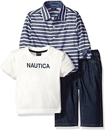 nautica-baby-three-piece-set-with-long-sleeve-stripe-woven-shirt-tee-and-denim-jean-sport-navy-12-mo