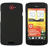 Kit Me Out CAN Hard Clip-on Case for HTC One S - Black Smooth Touch Textured