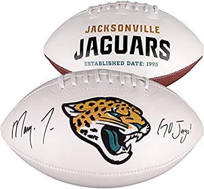 "Marqise Lee Jacksonville Jaguars Autographed White Panel Football with ""Go Jags"" Inscription - Fanatics Authentic Certified"