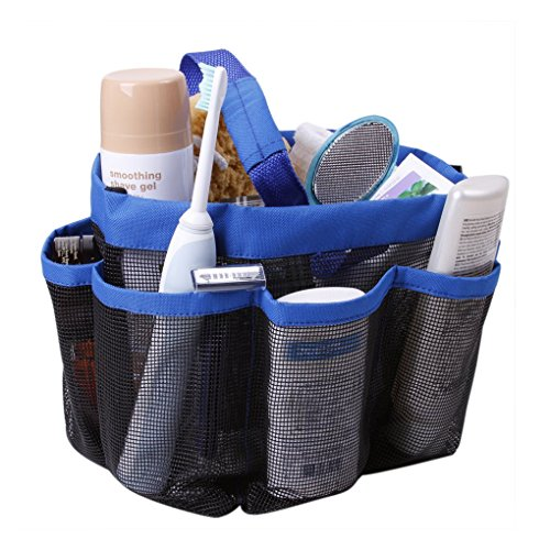 Holiberty® Quick Dry Hanging Toiletry  Bath Organizer with 8 Mesh Storage Pockets