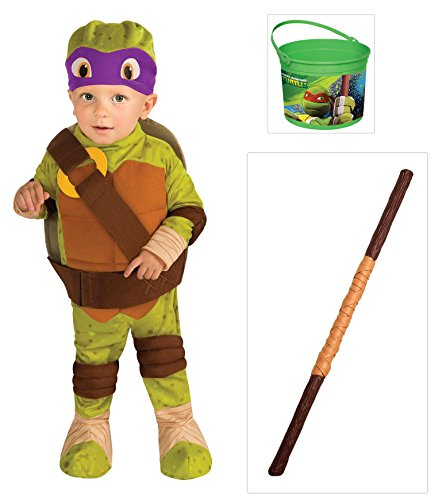 Teenage Mutant Ninja Turtle -Donatello Toddler Costume, Staff and Bucket (2T-4T)