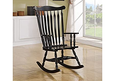 BLACK OAK TRADITIONAL ROCKING CHAIR (SIZE: 28L X 35W X 44H)