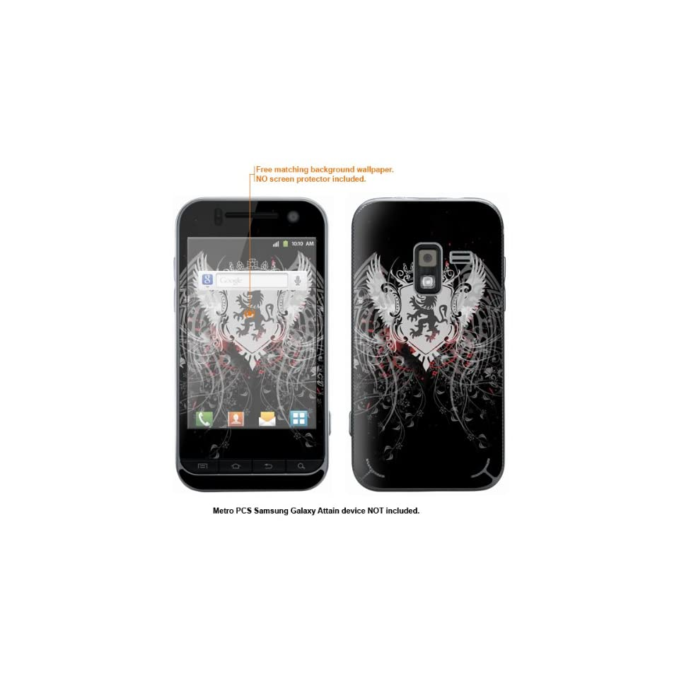Protective Decal Skin Sticker for Metro PCS Samsung Galaxy Attain 4G case cover Attain 517
