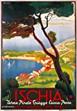 TV97 Vintage 1940's ISCHIA Island Italian Italy Travel Tourism Poster Re-Print Reproduction Print Card - A5 (148mm x 210mm)