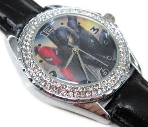 Fashion Women Watch PS352 New Leather 118 Diamond Crystal Watch / Spiderman 3